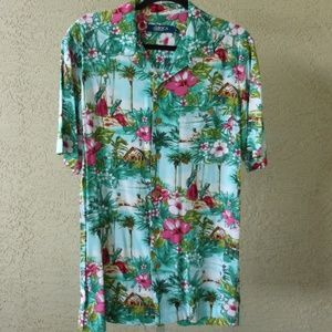 2 For $17 Slim Cut Hawaiian Print Shirt